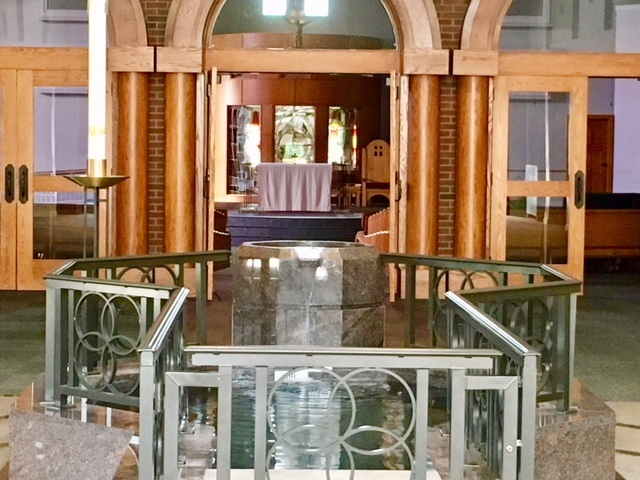 About Narthex-baptismal font